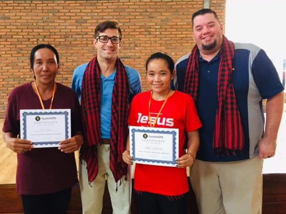 """"""" Even if I learn a lot, and even get a certificate, if I don't have action to bring people to people in Jesus, it's all useless. """" - Cambodian youth worker (picture here in the red Jesus shirt)"""