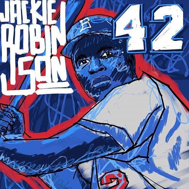 Jackie Robinson Day! Great work @edgrjgrcia  @mlb @hittingpost @famousswing @thebsbking @usabaseballrecruits @mlbnetwork @mlbmemes @jackierobinsonwestll @mlbdominicana @mlbtheshow @tournament_guy  #baseball #mlb #jackierobinsonday #jackierobinson #milb #hittingpost #pioneer #42