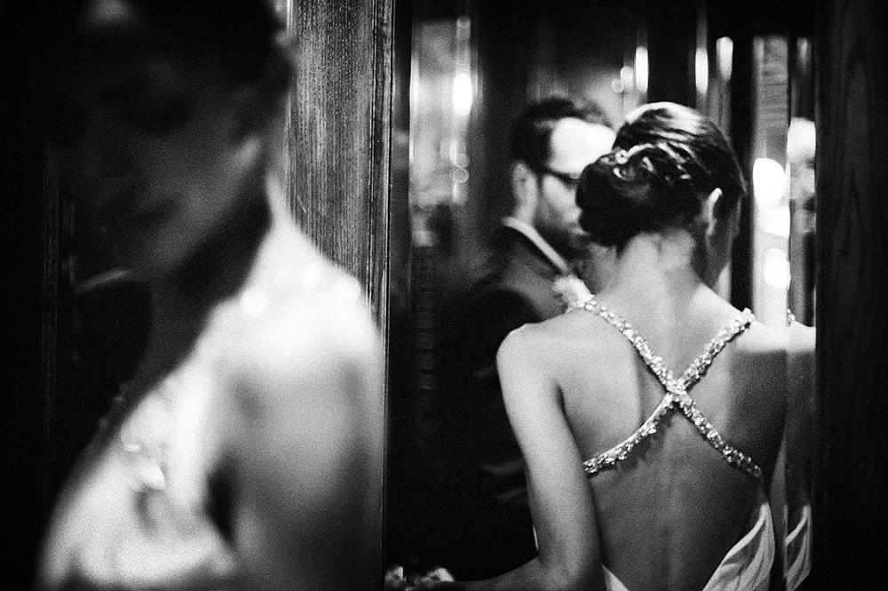 back of elegant bride, empress hotel, bc
