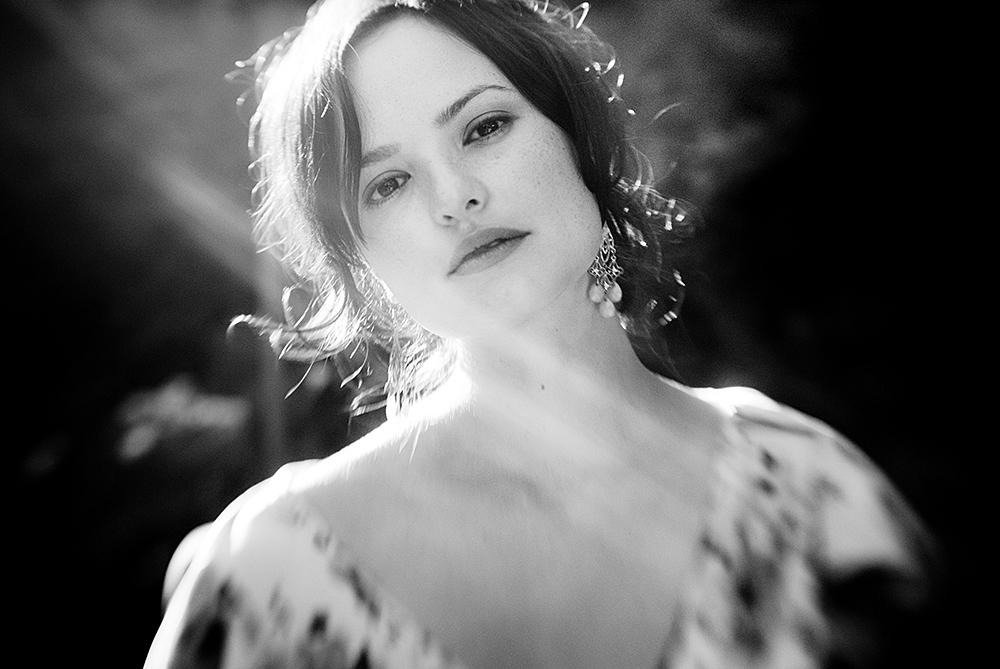 B&W portrait of bride, Victoria BC