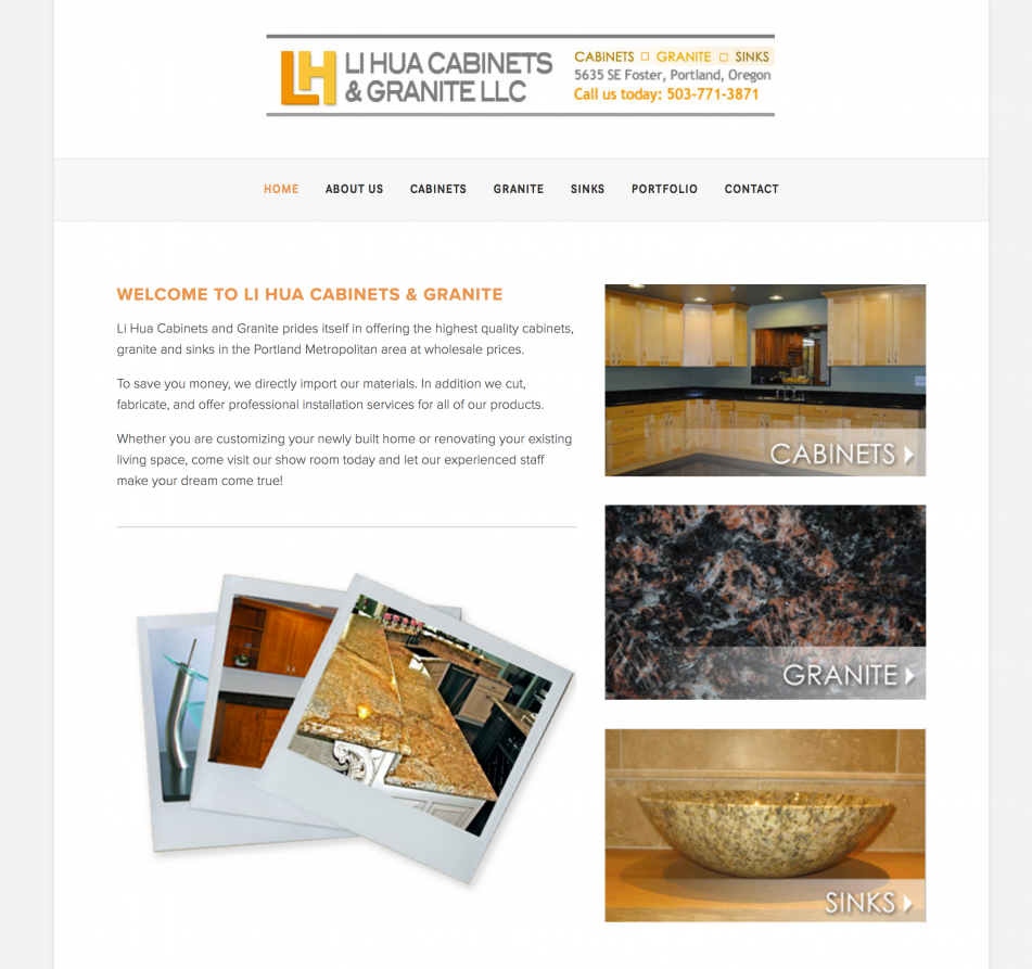 Product Website Rebrand | Photo Galleries | Mobile Responsive Website Admin: Transferred Based in Portland, OR