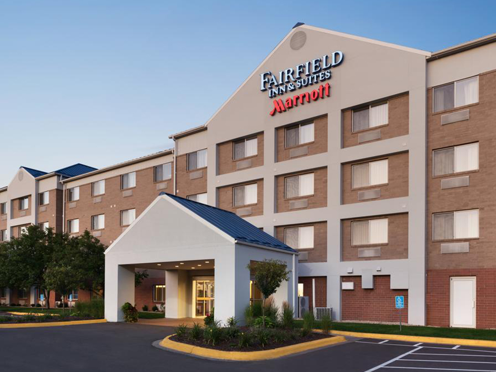 Fairfield inn & suites - Rate per night: $139 (rate good until May 17)Location: 2401 American Blvd E, Bloomington, MN 55425Phone: 952-858-8475Distance from Evergreen: 1.1 miles (22 minute walk)Breakfast includedParking: ComplimentaryShuttle service: Free to airport & local shuttle available upon request