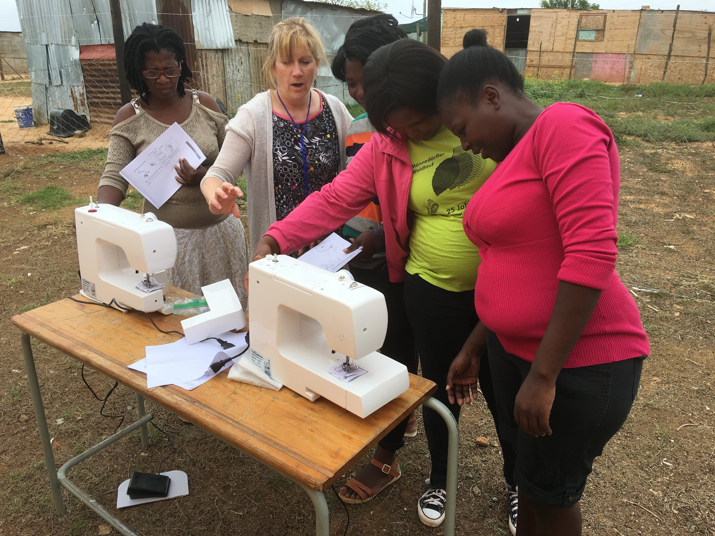 Four donated sewing machines!