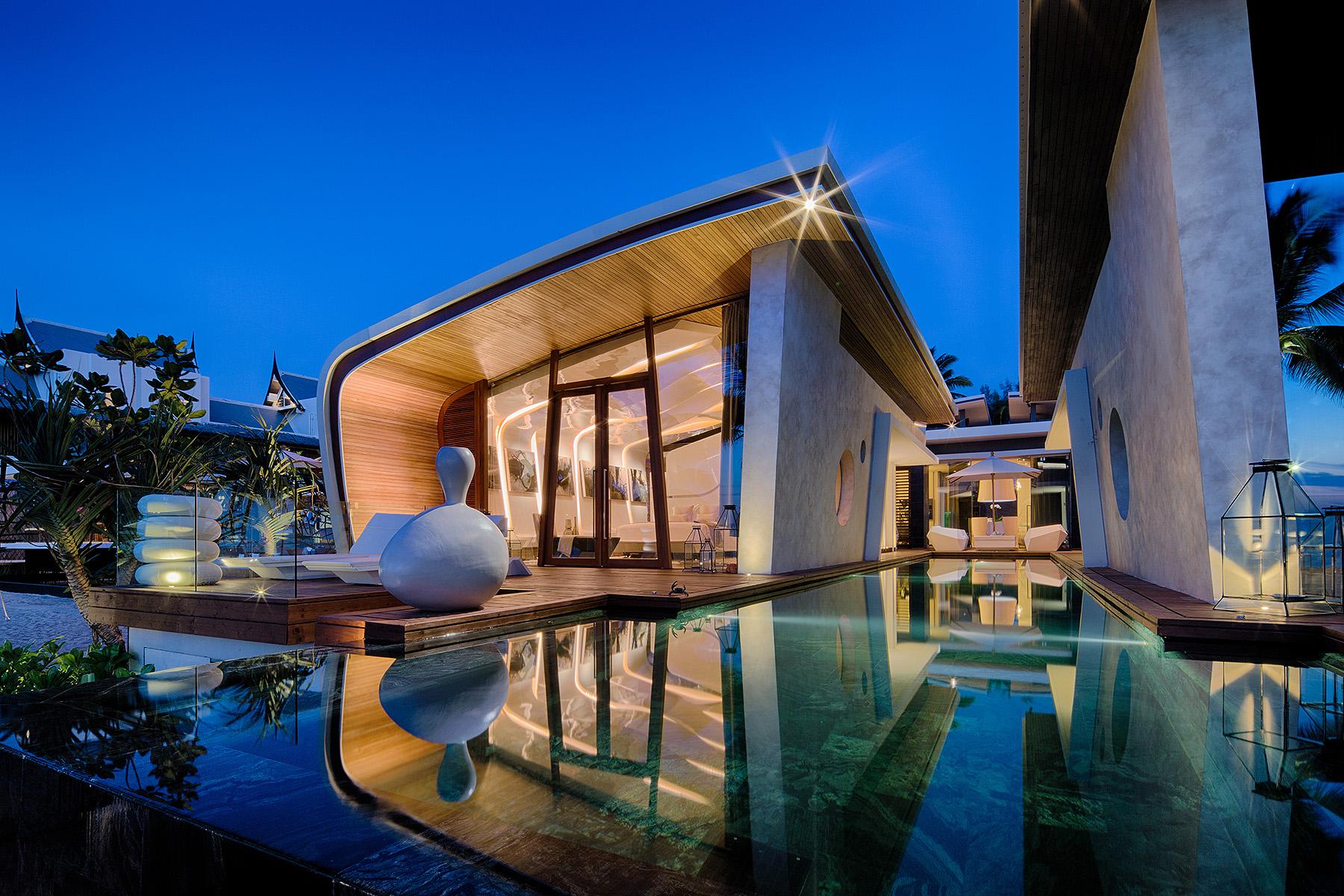modern residence exotic teak