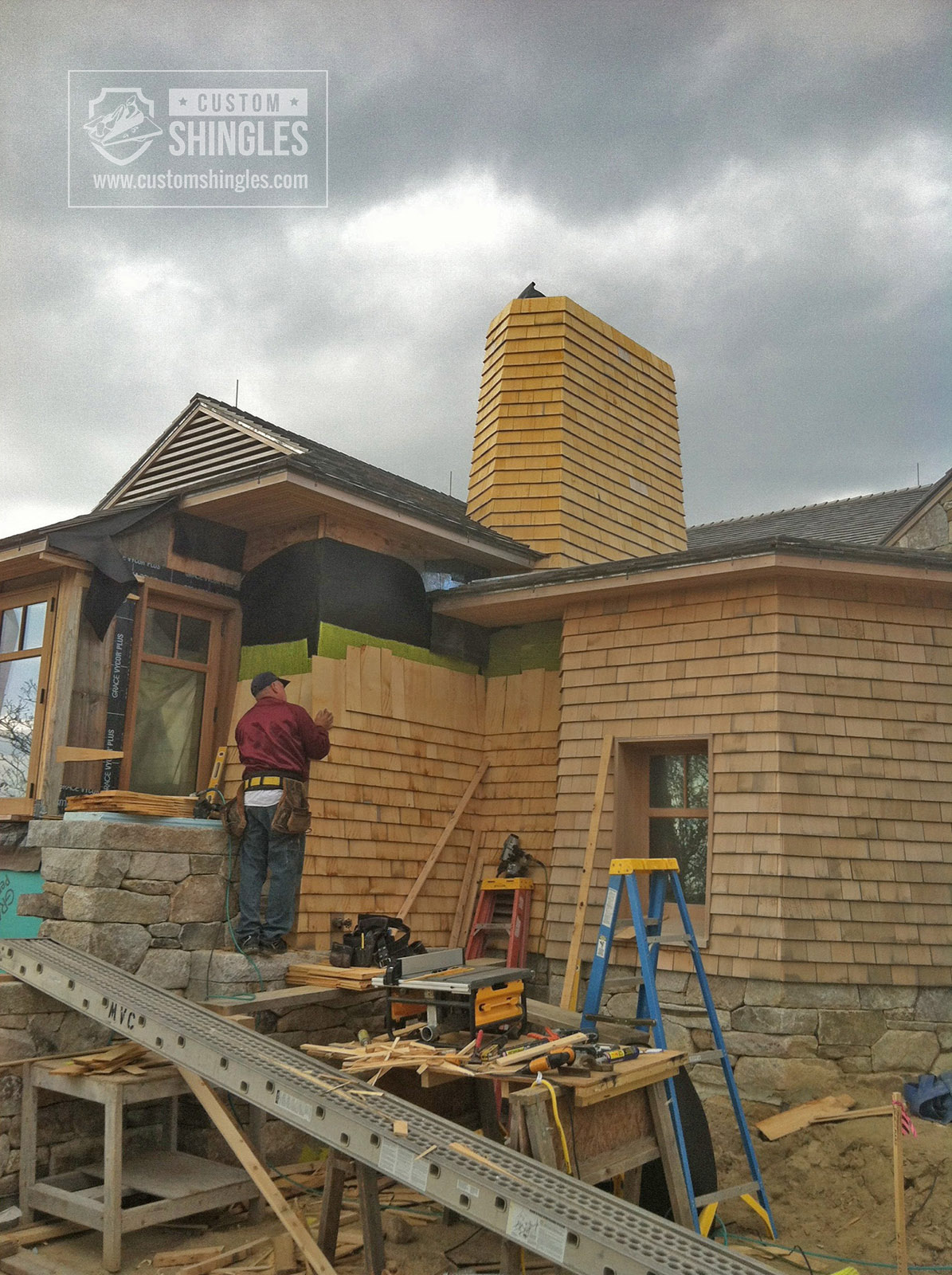 cedar shake installation process