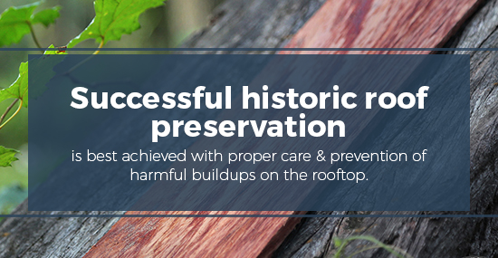 Successful wood roof preservation