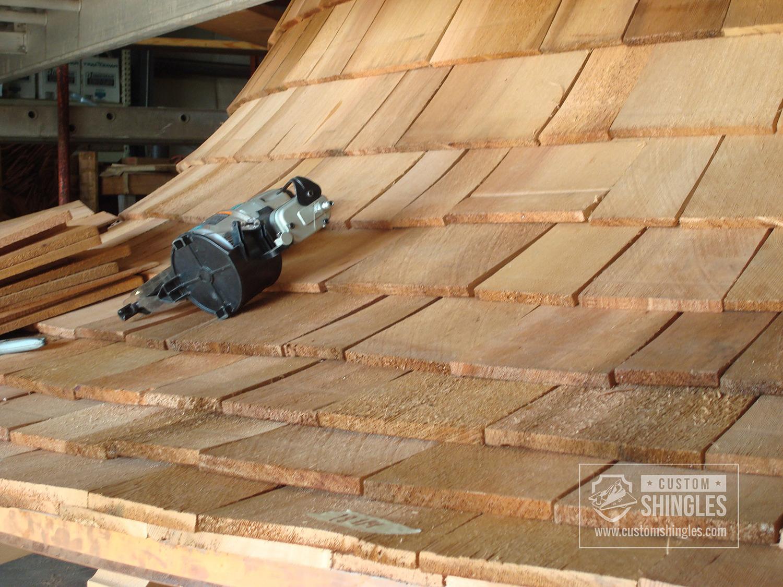 curved cedar tapersawns