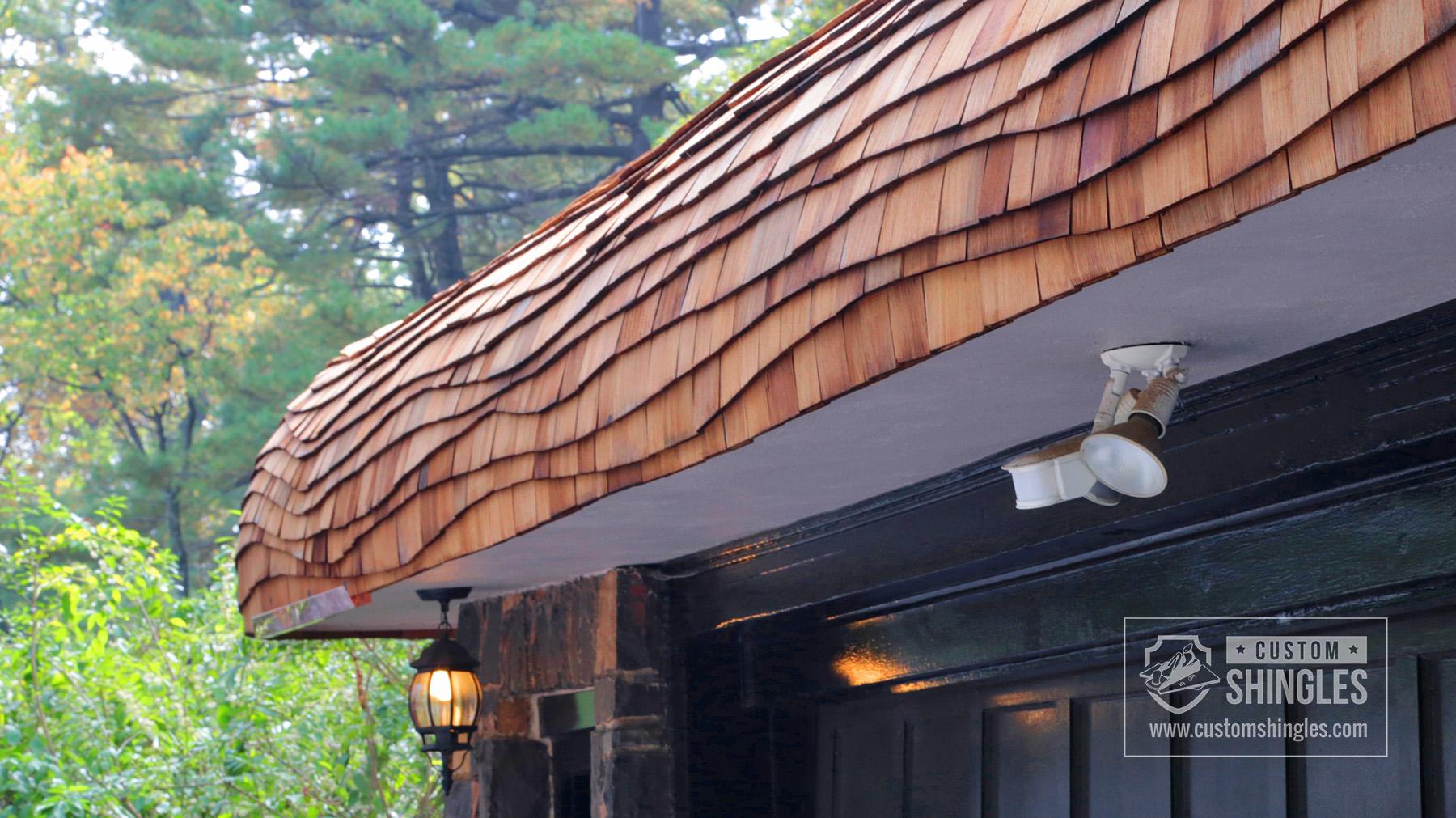 undulating shingle roof