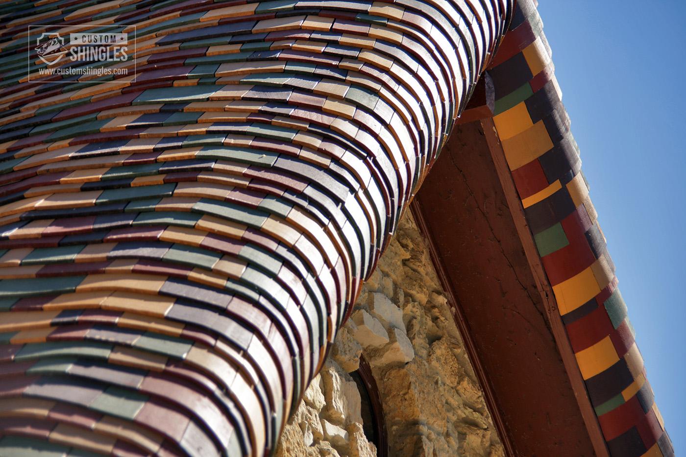 charleston sc bent shingles on a church