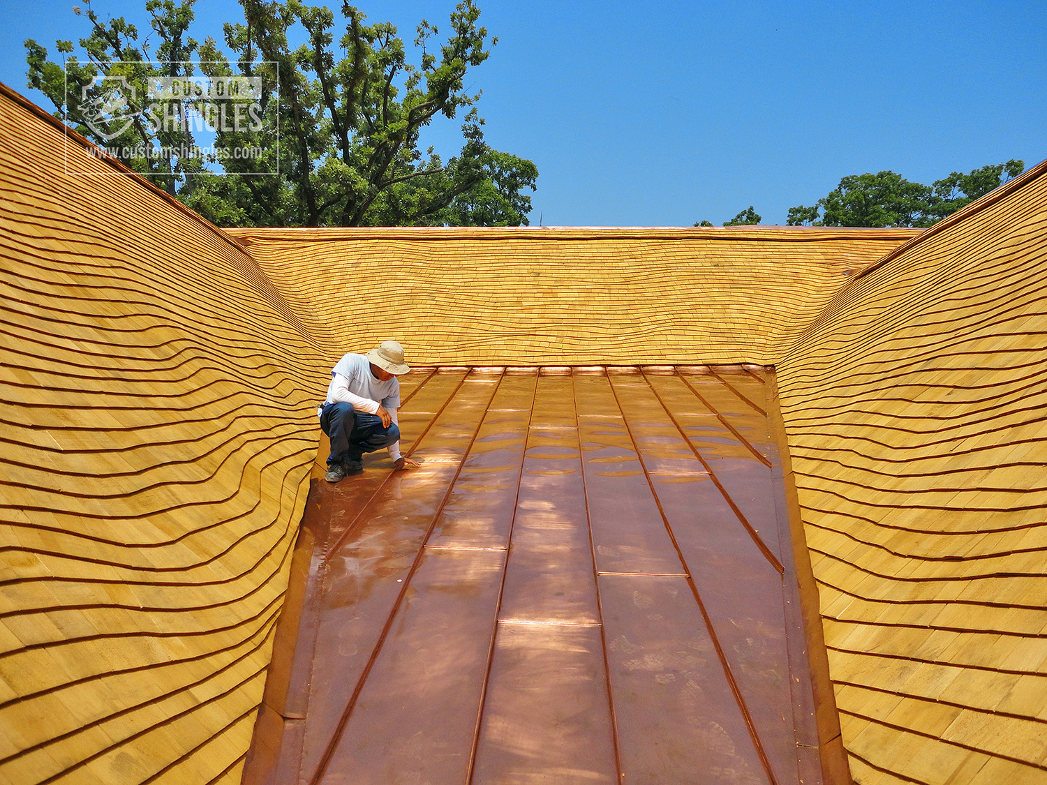 wood shingle installation process