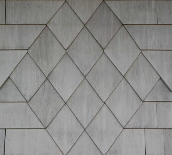 white cedar fishscale shingles