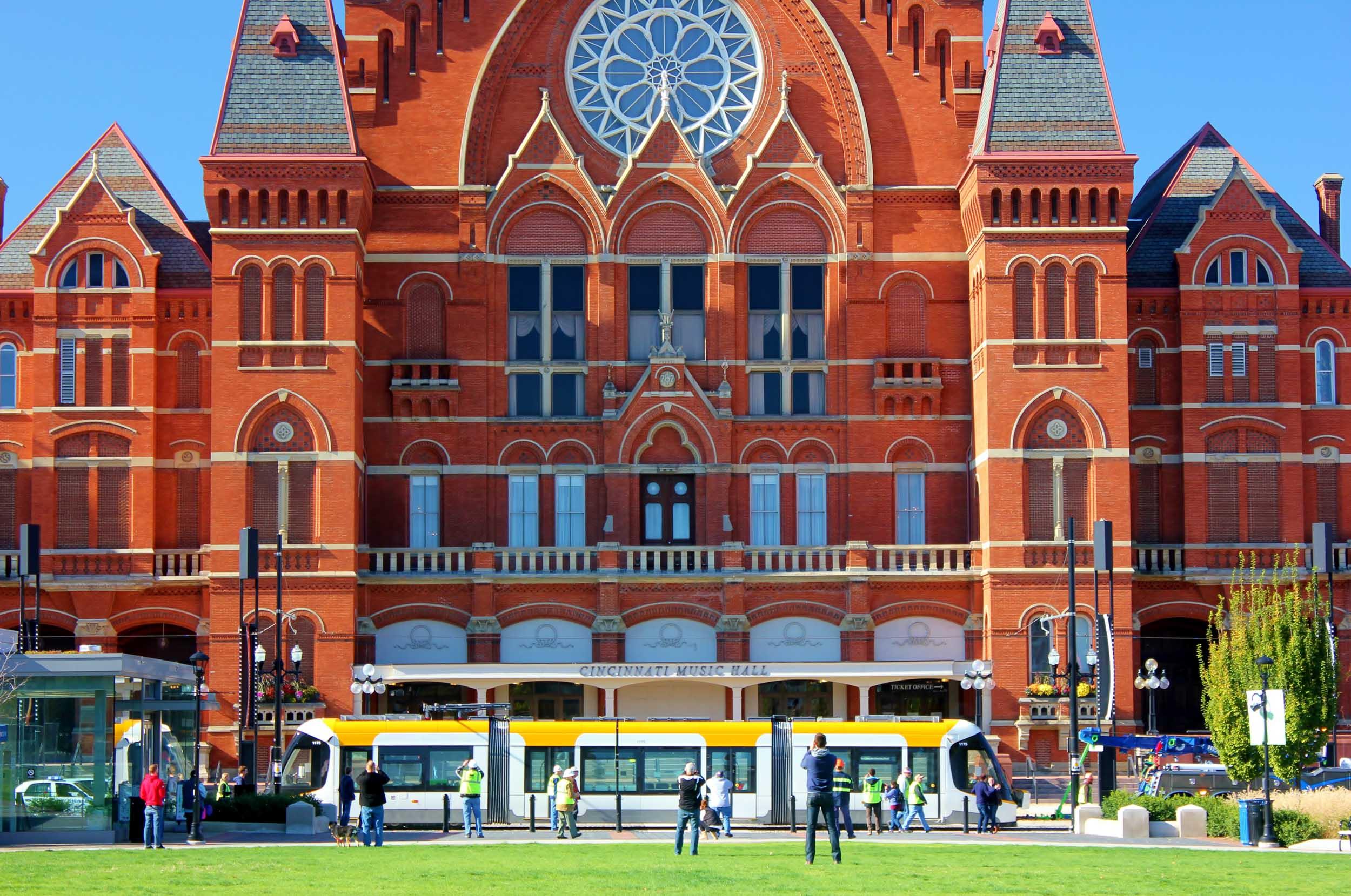 Cinci Streetcar in Front of Music Hall.jpg