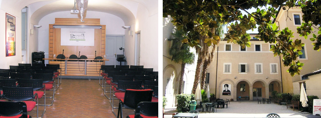 You can find us in Sala Tosi and the Chiostro