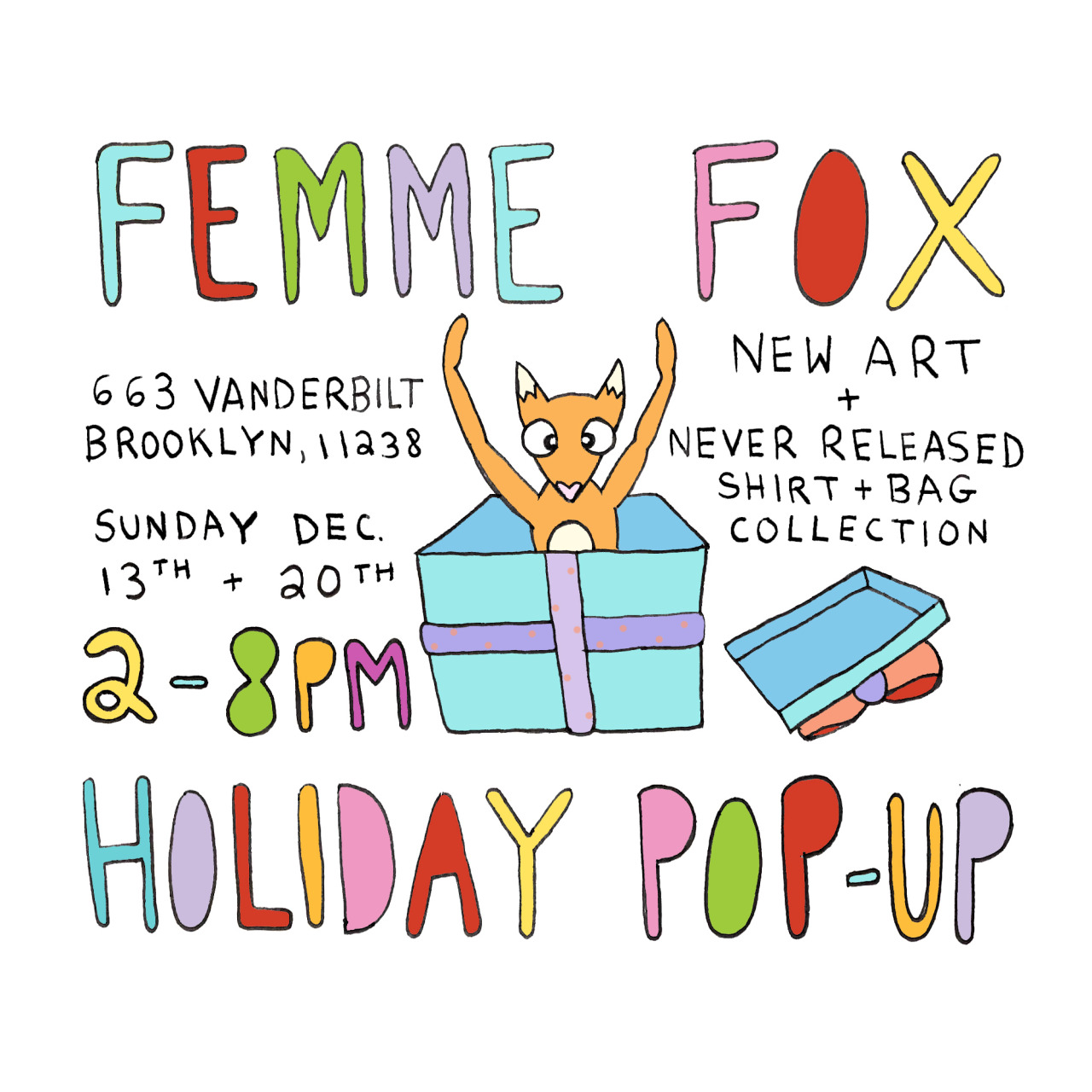 holiday pop up tomorrow and next sunday