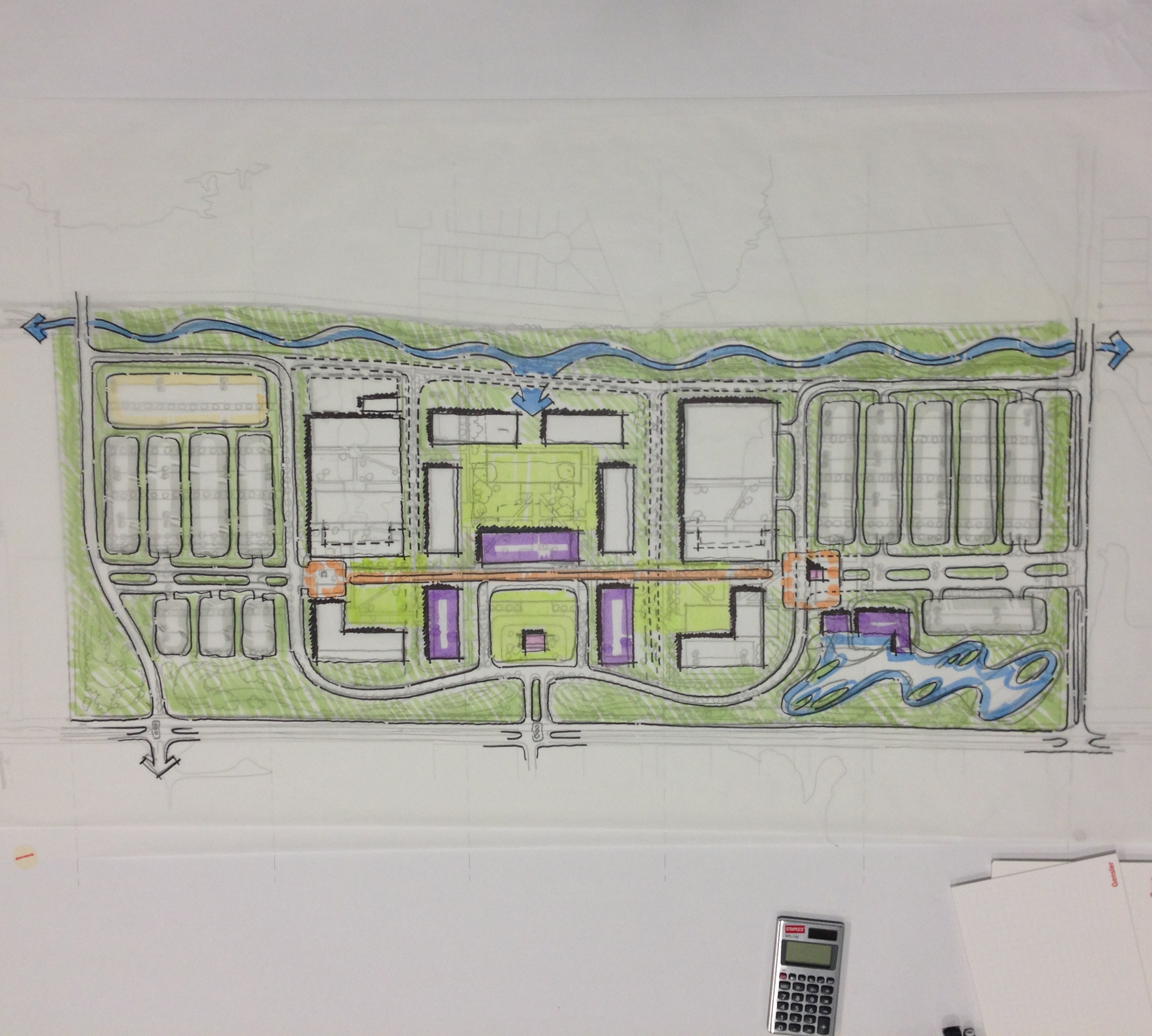 On Site Sketch of composite from the ideas that came out of the discussions.