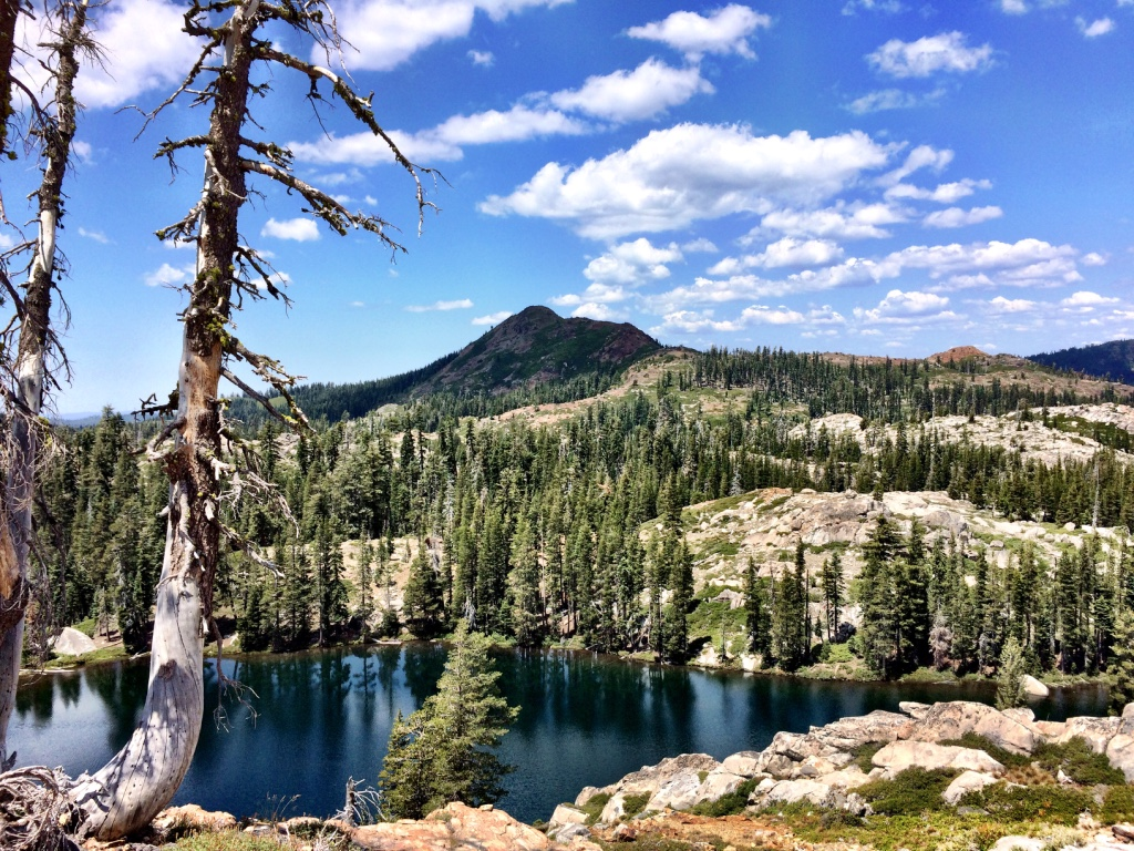 Penner Lake in Tahoe National Forest, where I backpacked and camped at Rock Lake for the first time in my adult life