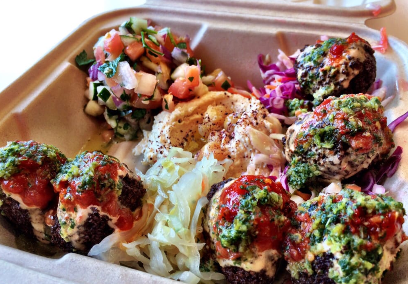 You can literally savor goodness oozing from each falafel ball, right down to its quality, crisp and homemade sauce