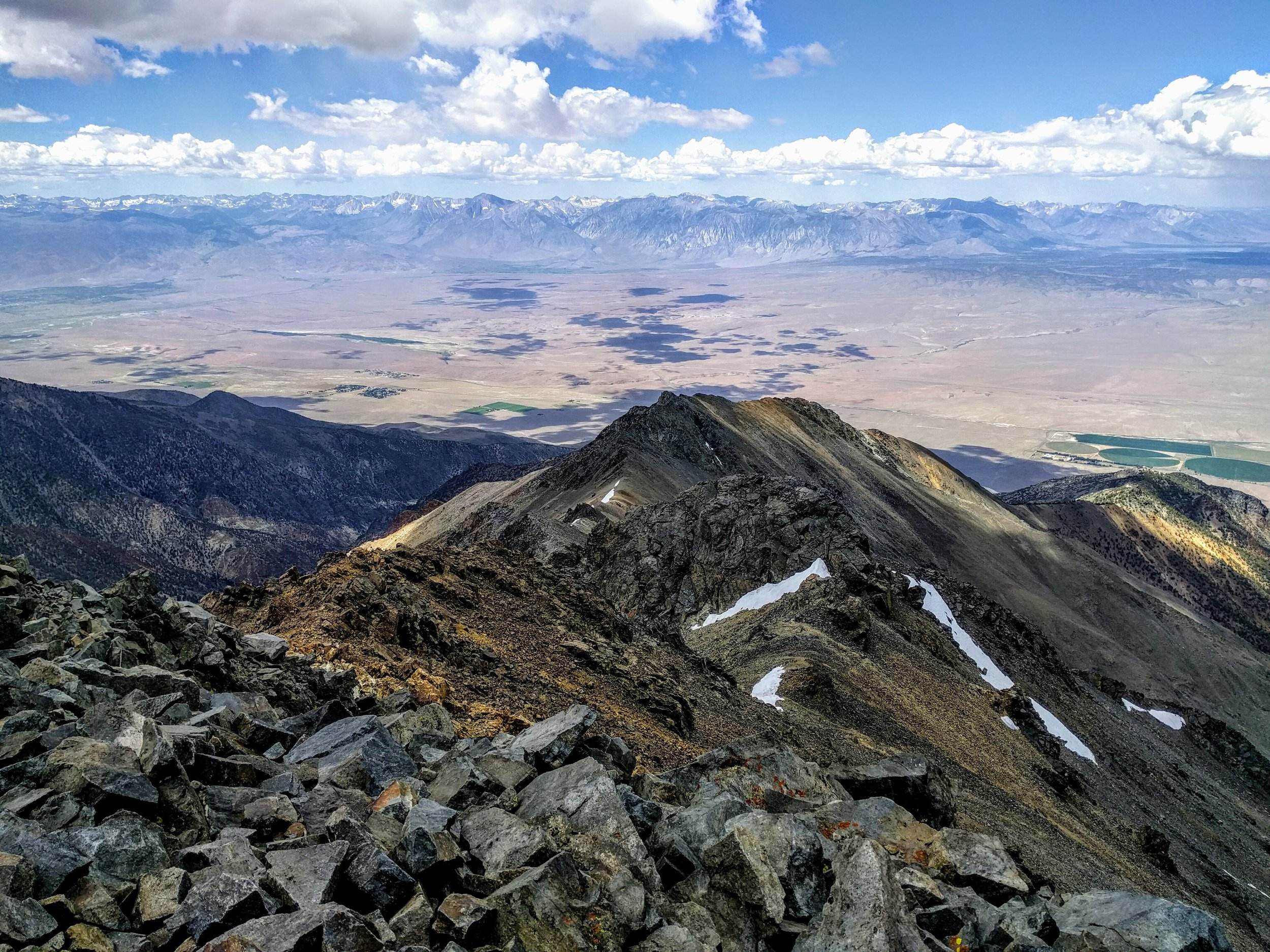 View from the summit of White Mountain (14,252 feet)