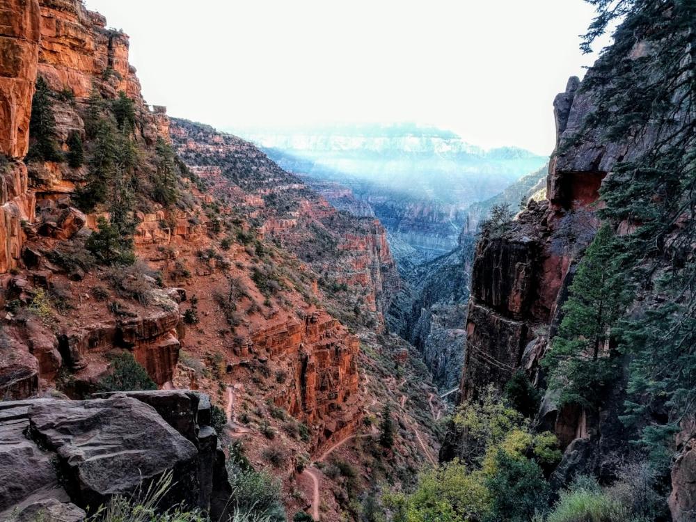 The lofty peak (rim) of the Grand Canyon - so near yet so far!