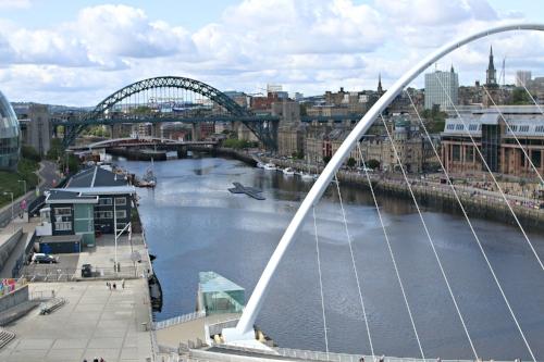 Vantage view of Newcastle