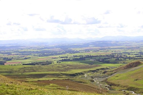 View of North Pennines from the summit of Cross Fell at 2,900 ft
