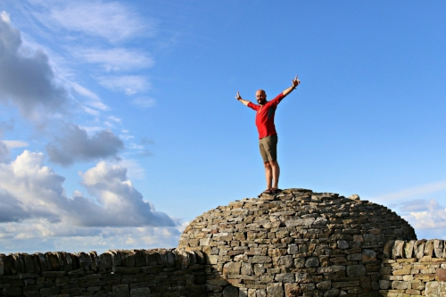 My buddy Paul at the summit of Cross Fell in North Pennines
