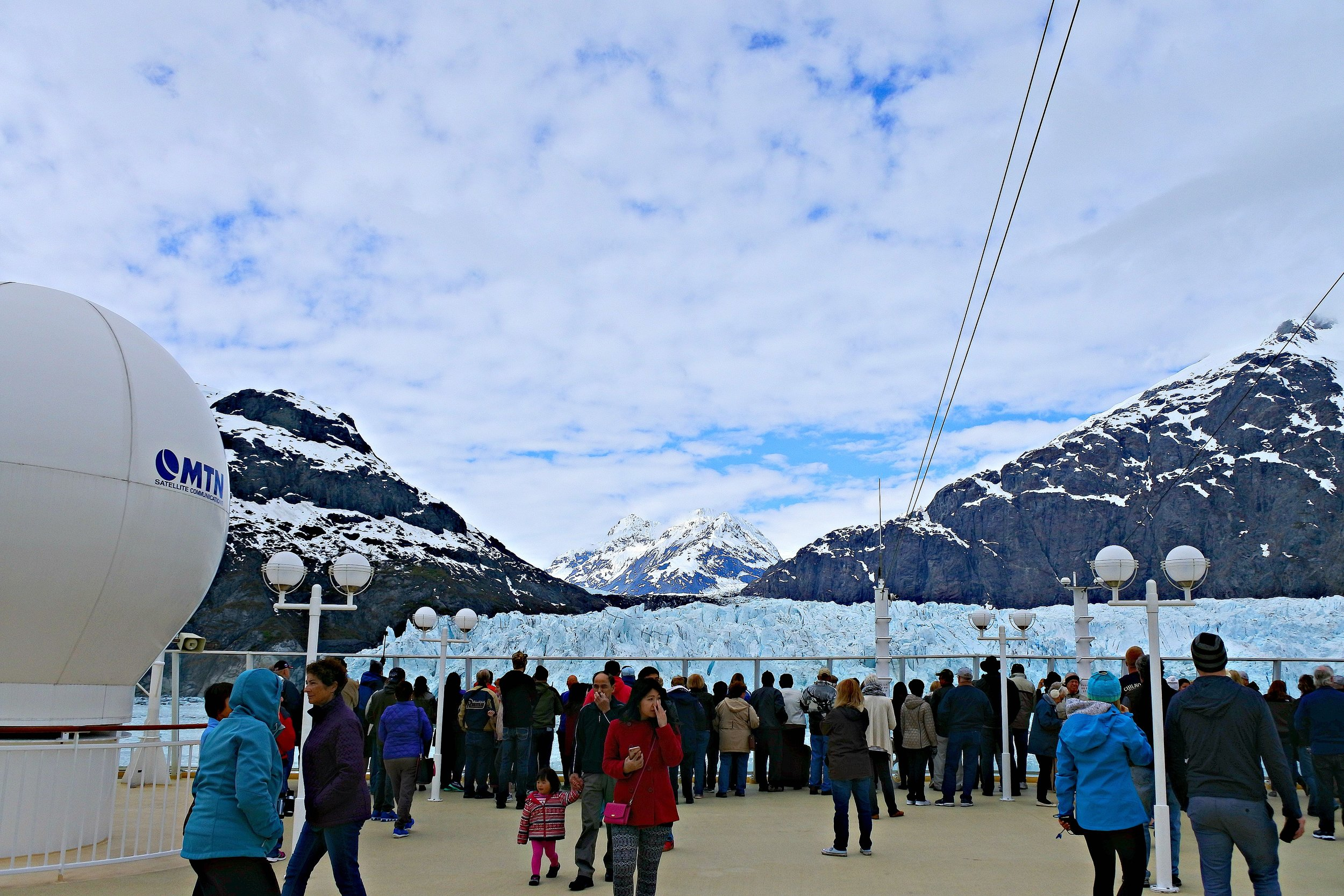 Glacier Bay, Alaska. Notice how close we got to it, and how massive it is