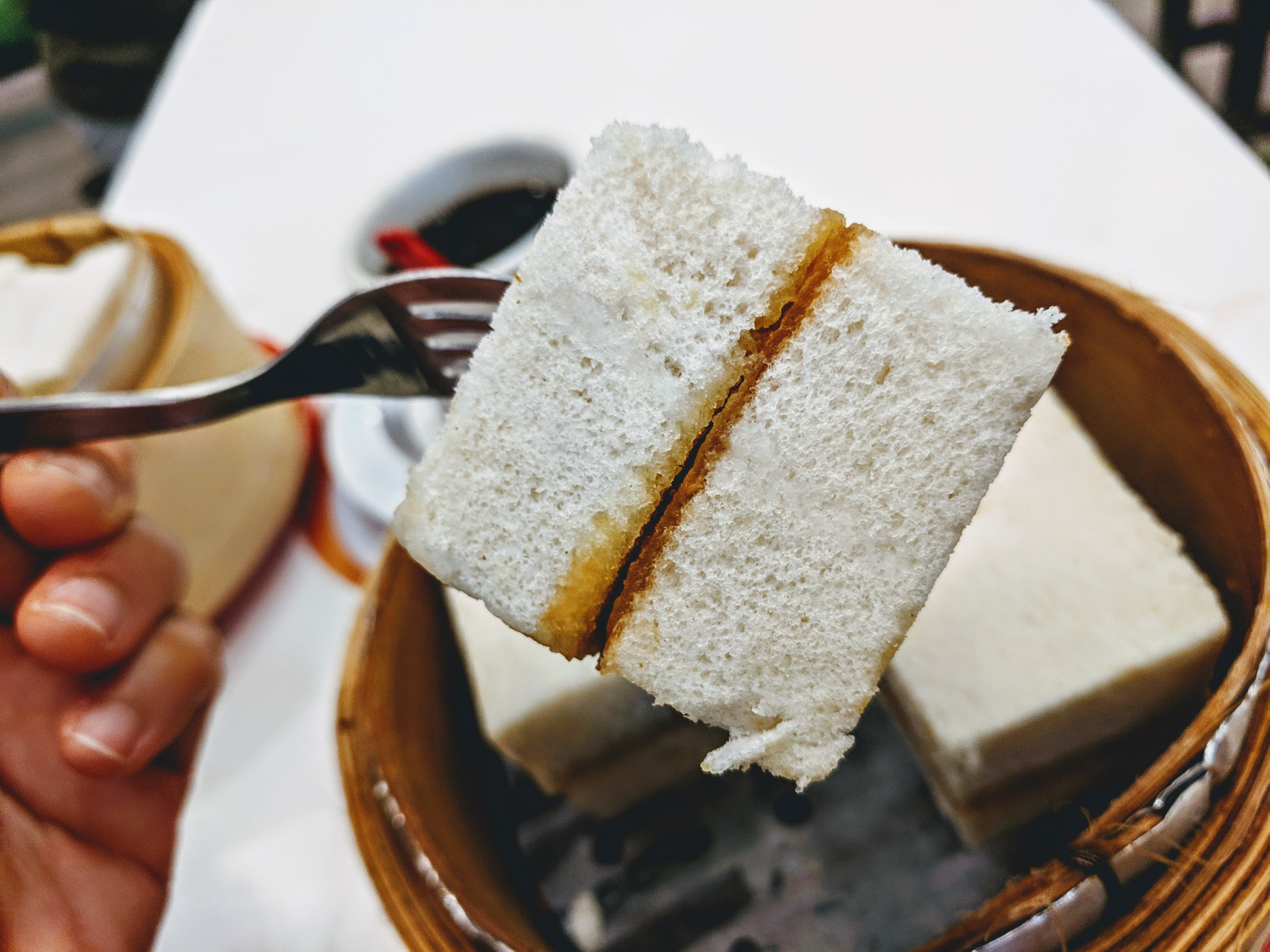 Oh so delightful steamed bread from Yakun Coffee & Toast, Singapore
