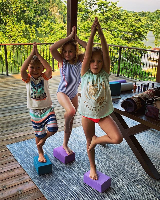 One of my fave get-to's is weekly #yoga with some lovely mamas that prioritize care for themselves so they can better care for their families. These little yogis in training soak up all the goodness each time. Love and light to all the #yogateachers and #yogis out there growing and learning together in this practice. ✨ #internationalyogaday #summersolstice #yogaforeverybody #dailyinspiration #mindbodyspirit #transformation #yogisintraining #trainthemupright #empoweringwholeness #selfcare #soulfood #nourishedwhole #happyyogaday #bethechange