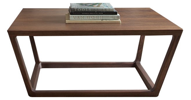 Custom Walnut Coffee Table   by Brandner Design
