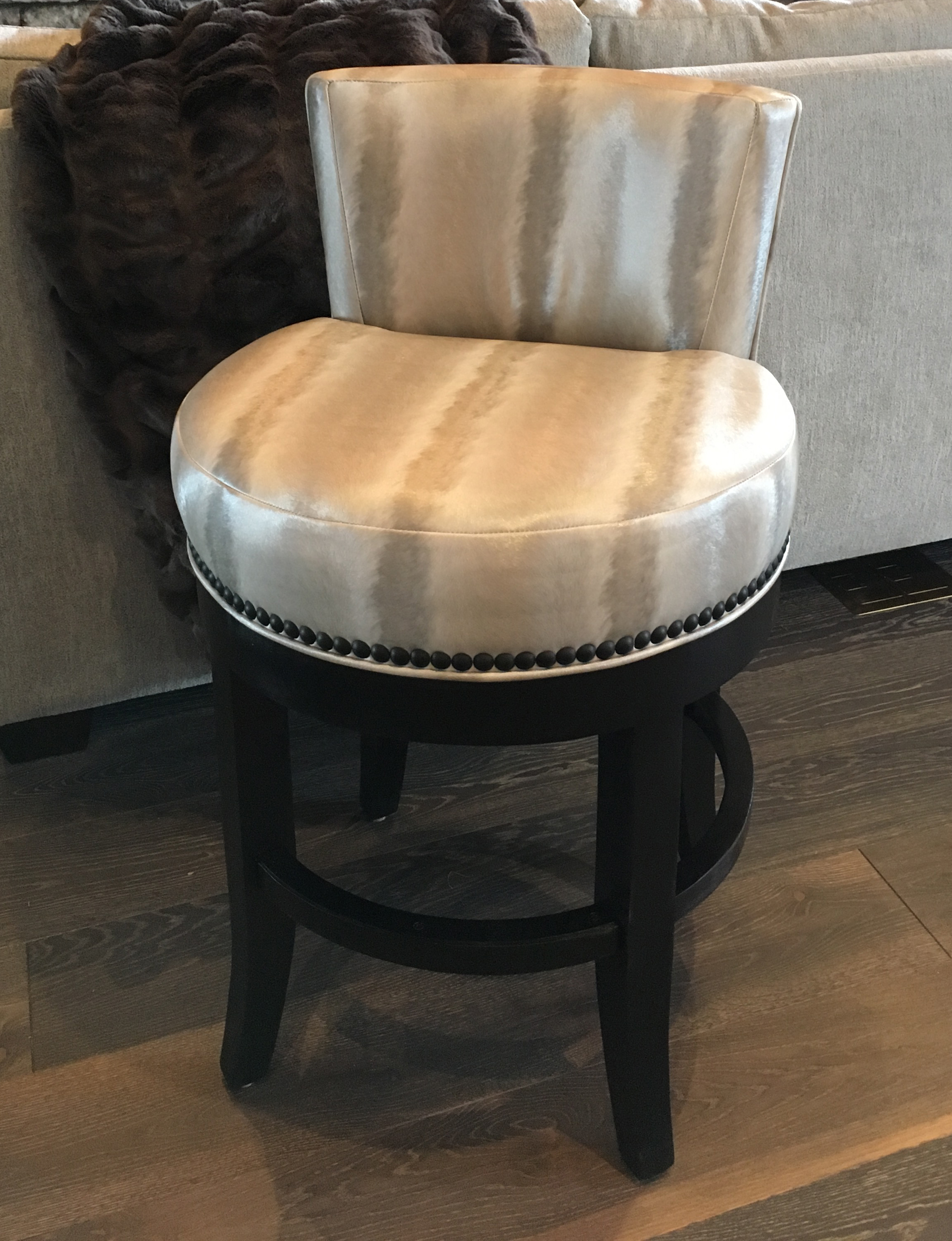 Custom Bar Stool   by Mike Regan |   Poulain Upholstery   by Christopher Hyland
