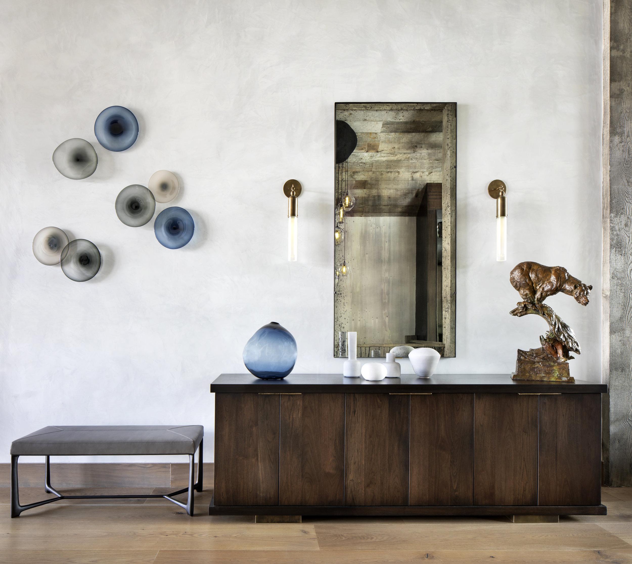Custom Glass Wall Installation | Om Design | Ona Magaro
