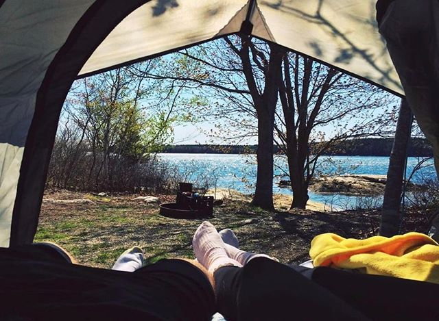 The count down is over! It's officially summer! If you are still looking for a summer adventure look no further than our island camp sites! Situated on our private island, views like this or nights under the stars are closer than you think! #floodscove