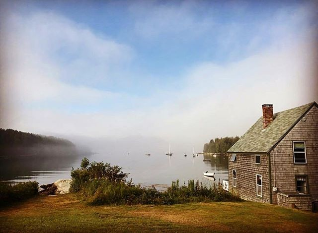 As the early morning fog burns off the Cove, enjoy the muffled sounds of lobster boats finishing their work, birds singing good morning, and ocean waves slapping up against the shore. It's a beautiful and peaceful time here in Cove so come take advantage of it! #floodscove
