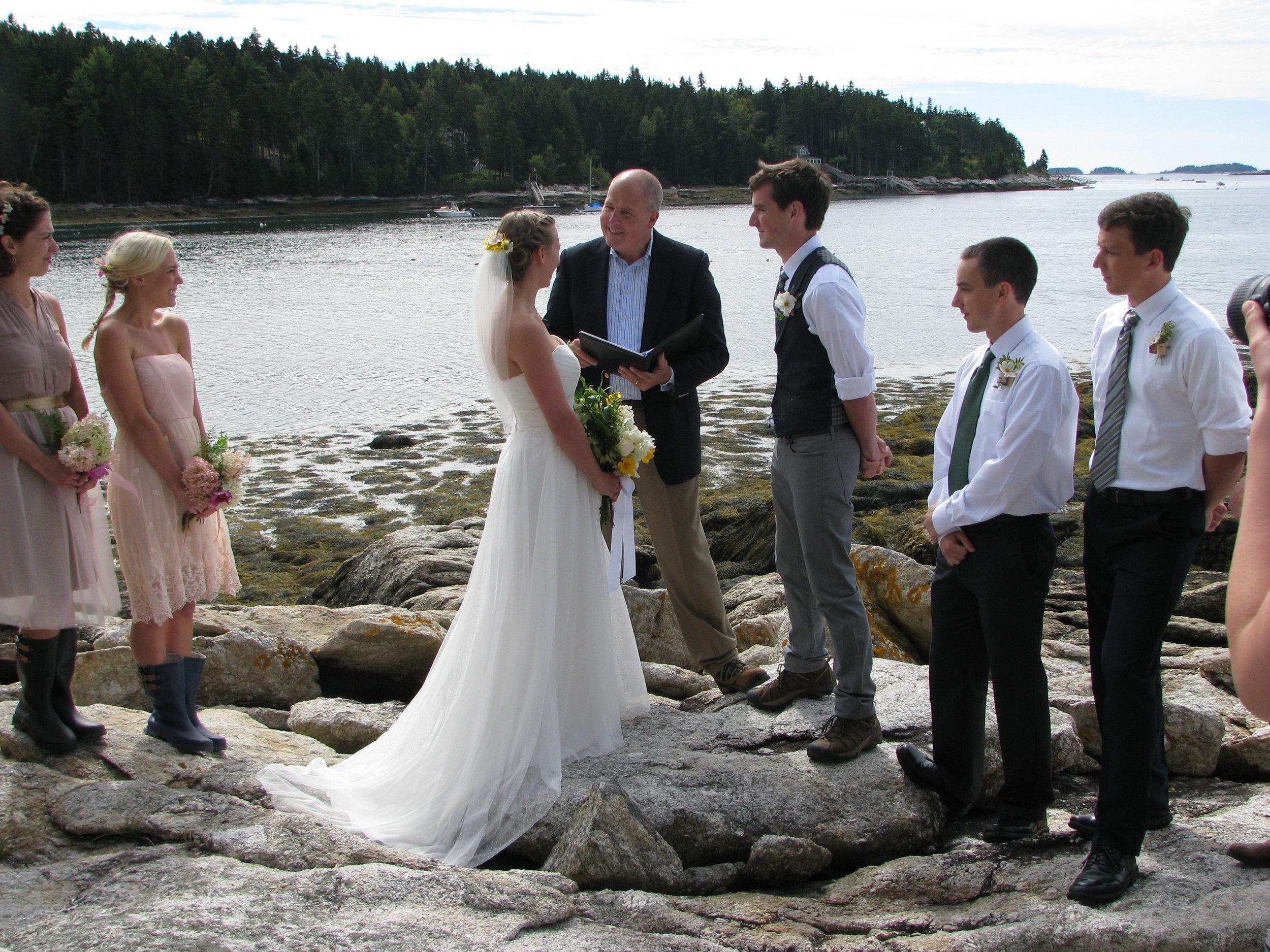 Oceanfront wedding on rocky Maine coast.JPG
