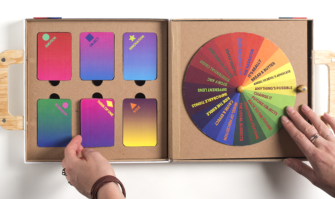 We developed the Designercise Ideation Toolkit to help bust through brain biases and build creative and divergent thinking