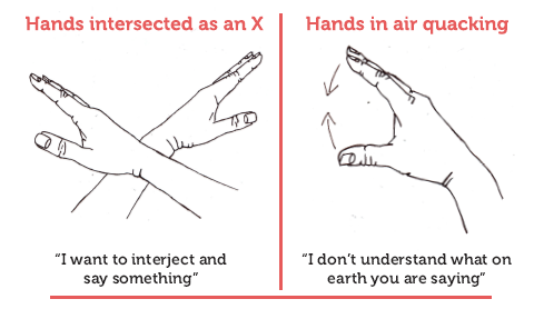 Example of Verbal Fight Club respectful interjection hand rules