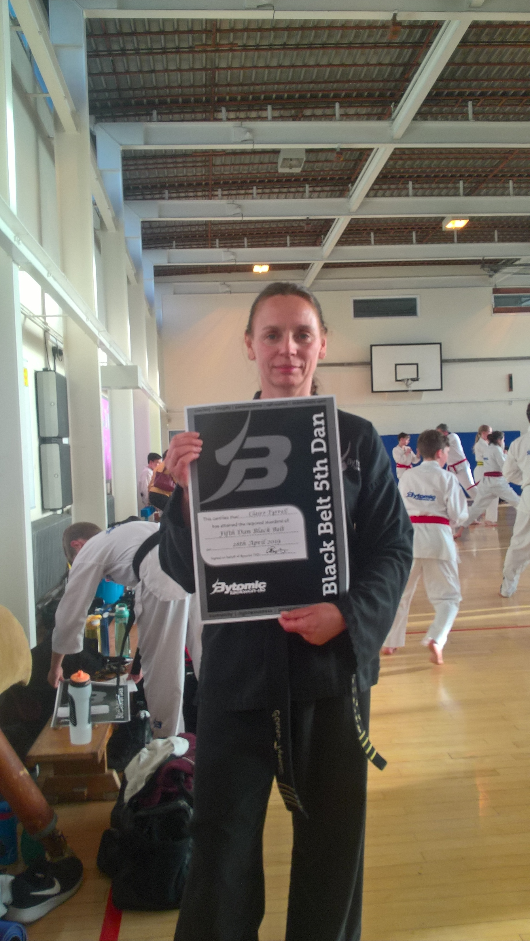 Claire Tyrrell - Promoted to 5th Dan Black Belt