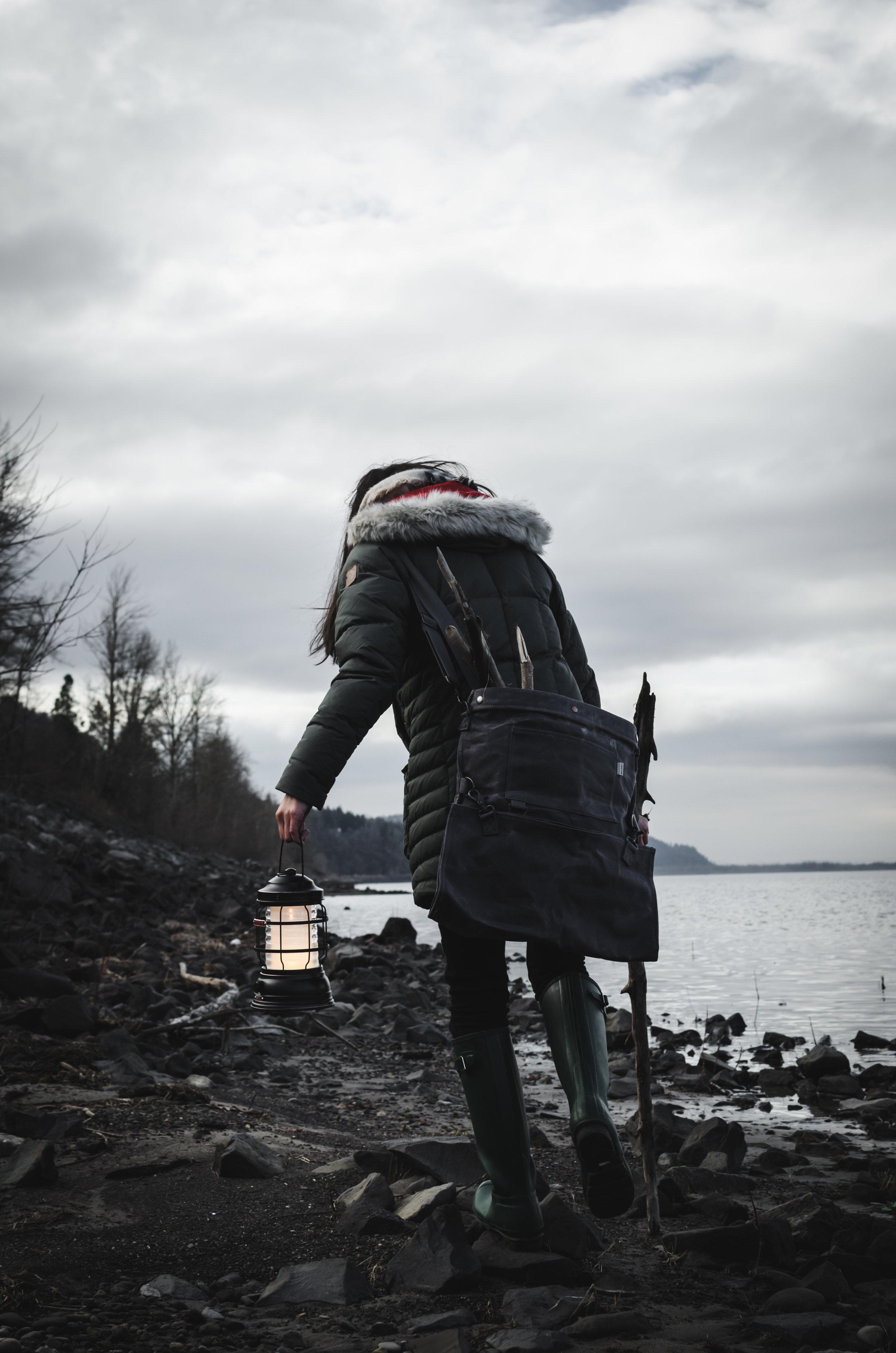 Open Fire Winter Picnic in Columbia River Gorge