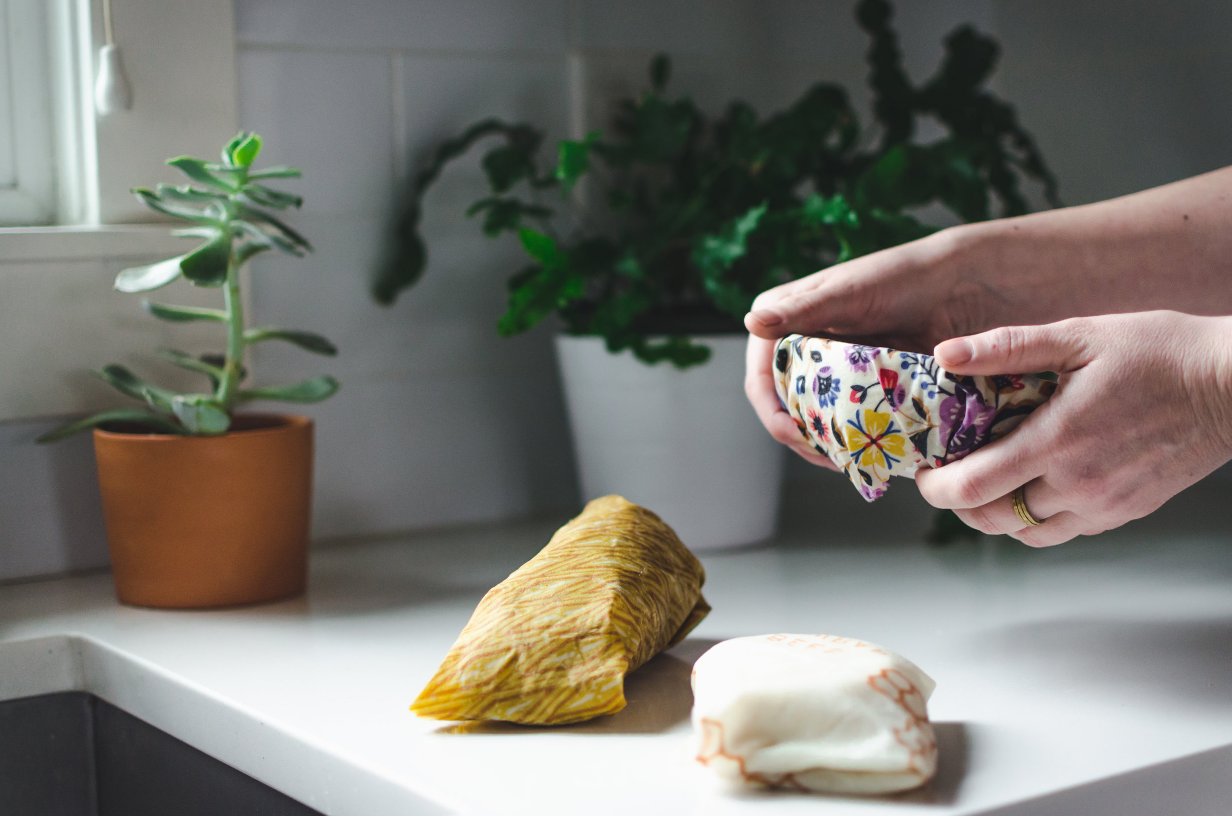 2. Switch to reusable wrap - Ditch the cling wrap, it's wasteful and sometimes hard to use. You can find Bee's Wrap in most supermarkets nowadays, or you can try your hand at making your own using Chloé's tutorial.