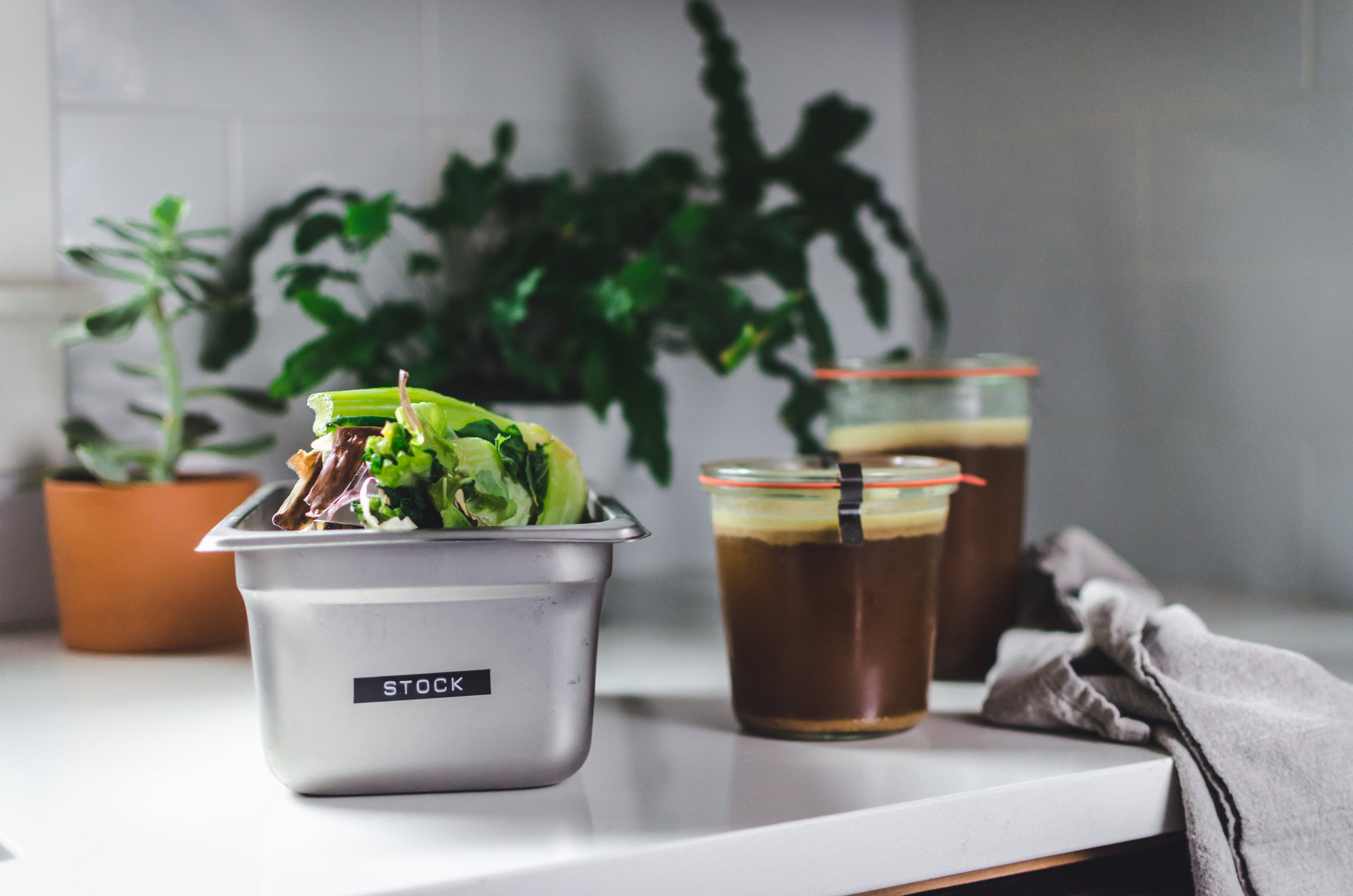 3. Use your food scraps - There are so many inventive ways to use your food scraps, i.e. carrot top pesto, vegetable stock. It all amounts to less food waste! We're big fans of Closed-Loop Cooking's recipes to reduce food waste.