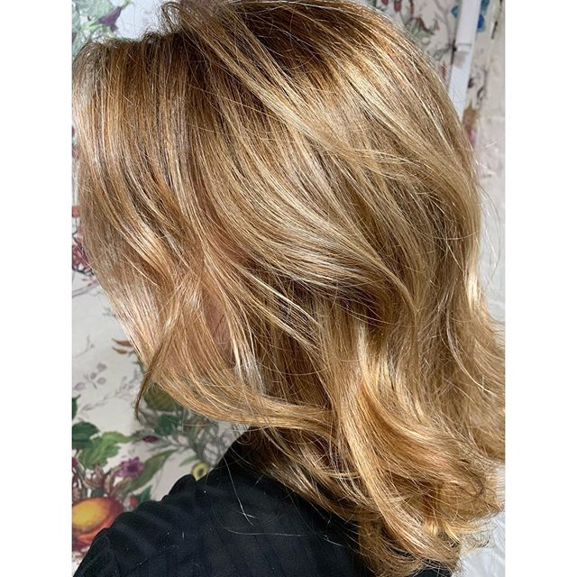 Fresh for Fall🥰⭐️🍂🍁 Cut & Color by yours truly.  Partial Highlight and Root Shadow ✅  Swipe for Before ⭐️ DM me to book your next session and take advantage of my promo while you still can till October 31! Partial Highlight & Trim with blowdry included for 150!  @livebytheswordsalon in Williamsburg!  Styled with @amikapro & @amika ❤️