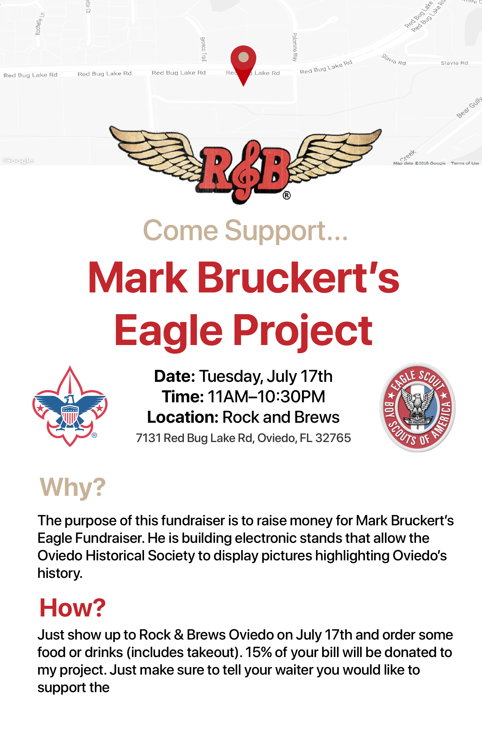 The Project Flyer - Feel free to learn more about the project from this poster or distribute it to your friends and family.