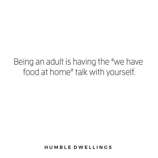 How about we all just make our kitchens cute so it feels like we're eating out when we have this talk with ourselves?