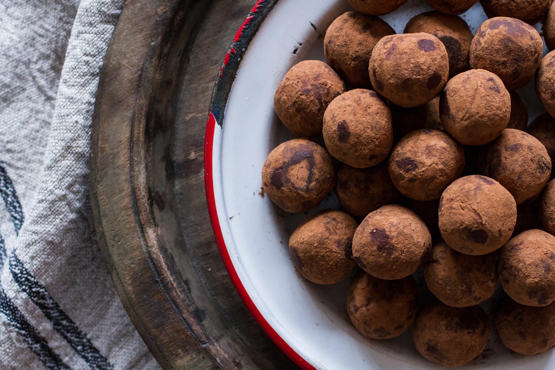 Chocolate Chevre Truffles