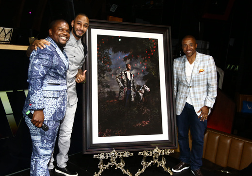An original royal portrait by Kehinde Wiley of the Grammy nominated recording artist Swizz Beatz was unveiled during BET Awards Weeekend.