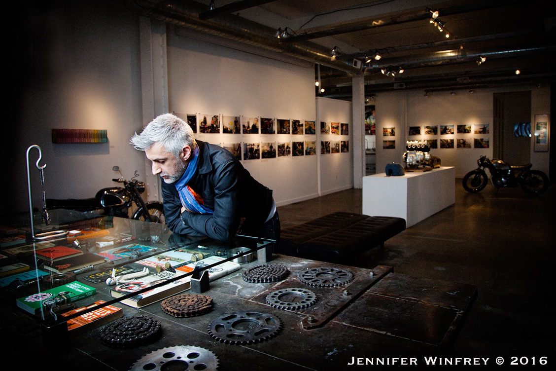 "Jean-Philippe Defaut, curator ""I am this Motorcycle"" exhibition at Heron Arts, San Francisco."