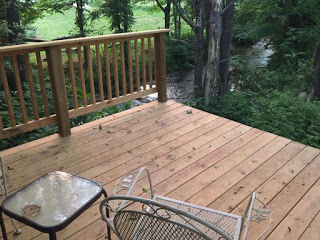 back deck over creek