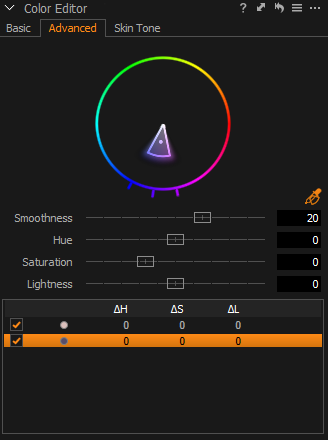 Color editing tool in Capture One
