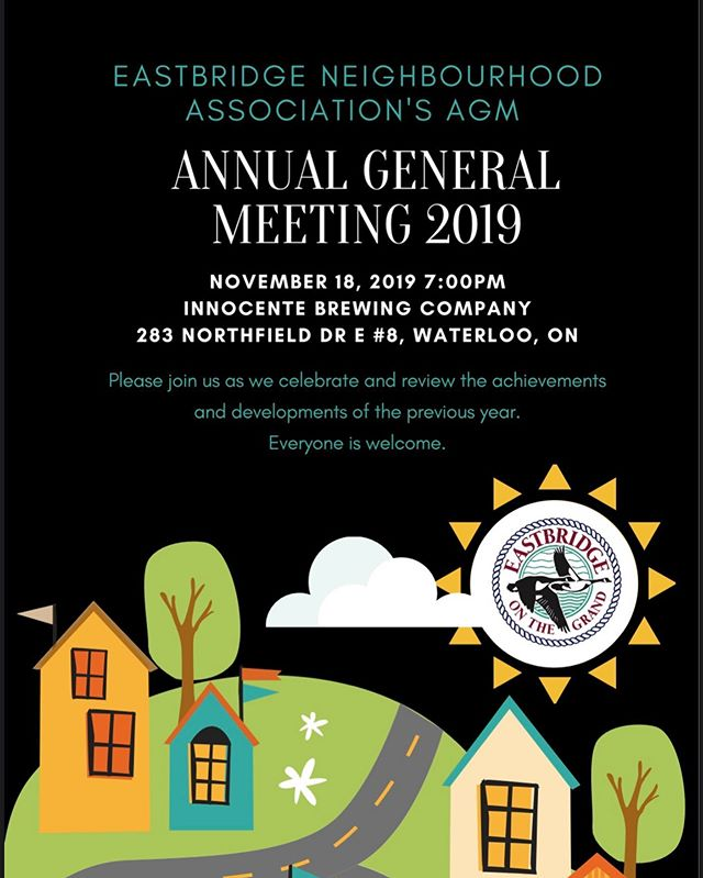 Join us for our AGM November 18th at 7:00PM @innocentebrew. Everyone is welcome. See you there.